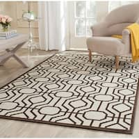 Safavieh Amherst Ivory/ Brown Rug - 7' Square