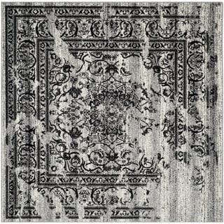 Safavieh Adirondack Vintage Silver/ Black Rug (8' Square)