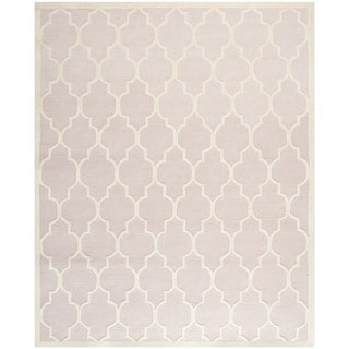 Safavieh Handmade Moroccan Cambridge Light Pink/ Ivory Wool Rug (7u00276 X 9