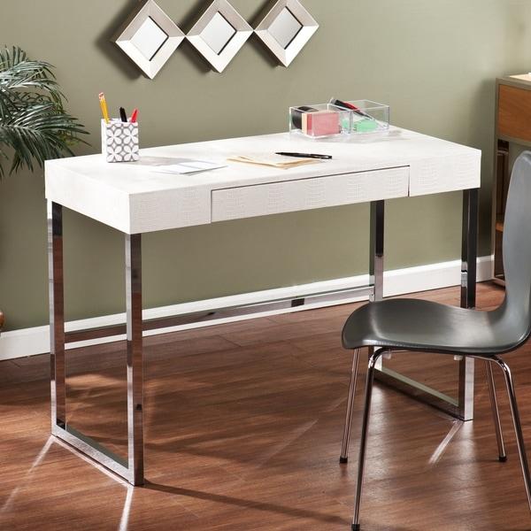 Harper Blvd Contemporary Vivica Cream Reptile Textured Desk