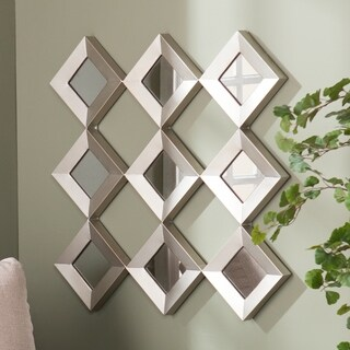 Harper Blvd Diamante Mirrored Squares Wall Sculpture