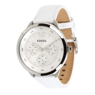 Fossil Women's ES3249 'Editor' White Chronograph Watch