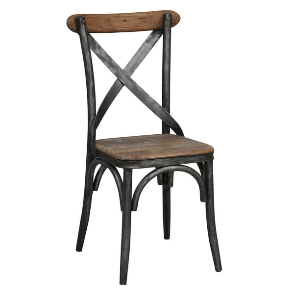 Delightful Dixon Reclaimed Wood And Iron Dining Chair By Kosas Home