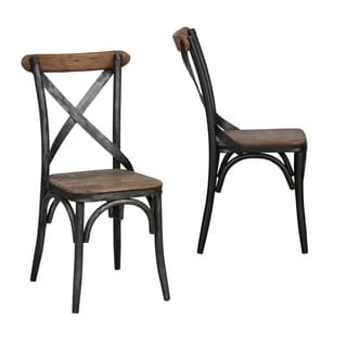 Kosas Home Dixon Distressed Pine Side Chair