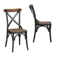 Dixon Reclaimed Wood and Iron Dining Chair by Kosas Home