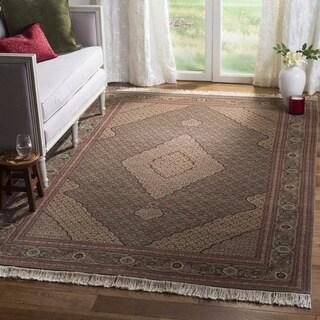 Safavieh Hand-knotted Tabriz Herati Multi Wool/ Silk Rug (9' x 12')