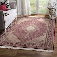 Safavieh Hand-knotted Tabriz Herati Red/ Red Wool/ Silk Rug - 9' x 12'