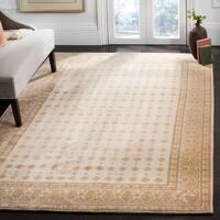 Safavieh Hand-knotted Suzanne Kasler Creme Wool/ Silk Rug - 6' x 9'
