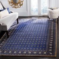 Safavieh Hand-knotted Suzanne Kasler Indigo Wool/ Silk Rug - 6' x 9'