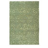 Safavieh Hand-knotted Suzanne Kasler Aqua/ Cream Wool/ Silk Rug - 6' x 9'