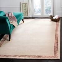Safavieh Hand-knotted Suzanne Kasler Cream/ Rose Wool/ Silk Rug - 6' x 9'