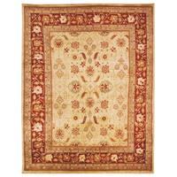 Safavieh Hand-knotted Samarkand Ivory/ Rust Wool Rug - 6' x 9'