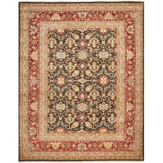 Safavieh Hand-knotted Samarkand Green/ Red Wool Rug (6' x 9')