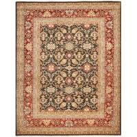 Safavieh Hand-knotted Samarkand Green/ Red Wool Rug - 6' x 9'