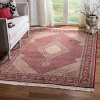 Safavieh Hand-knotted Tabriz Herati Red/ Red Wool/ Silk Rug - 6' x 9'