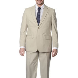 Palm Beach Men's Big & Tall Oyster 2-button Suit
