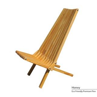 Eco-friendly X45 Assembled Foldable Chair (Option: Honey)
