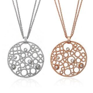 Riccova Brass Cubic Zirconia Bubble Necklace with Bonus Cubic Zirconia Necklace