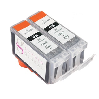 Sophia Global Compatible Ink Cartridge Replacement for Canon BCI-3e (2 Black)