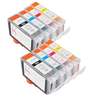 Sophia Global Compatible Ink Cartridge Replacement for Canon BCI-3e and BCI-6 (2 Large Black, 2 Cyan, 2 Magenta, 2 Yellow)