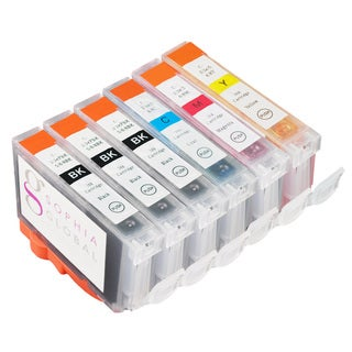 Sophia Global Compatible Ink Cartridge Replacement for Canon BCI-6 (3 Black, 1 Cyan, 1 Magenta, 1 Yellow)