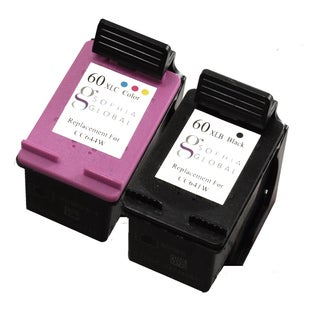 Sophia Global Remanufactured Ink Cartridge Replacement for HP 60XL (1 Black, 1 Color)