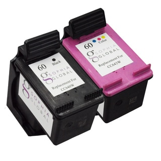 Sophia Global Remanufactured Ink Cartridge Replacement for HP 60 (1 Black, 1 Color)