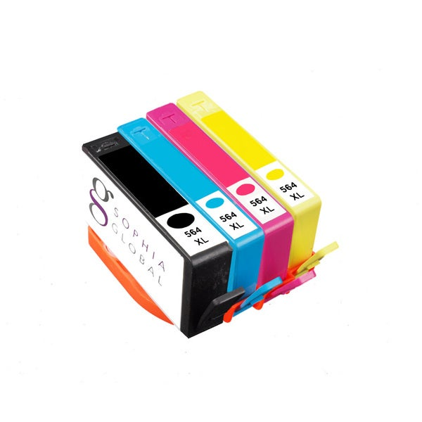Remanufactured Ink Cartridge Replacement for HP 564XL (1 Black, 1 Cyan, 1 Magenta, and 1 Yellow)