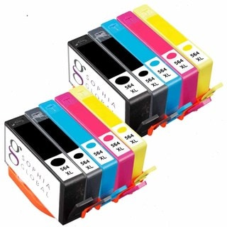 Sophia Global Remanufactured Ink Cartridge Replacement for HP 564XL (2 Black, 2 Photo Black, 2 Cyan, 2 Magenta, and 2 Yellow)