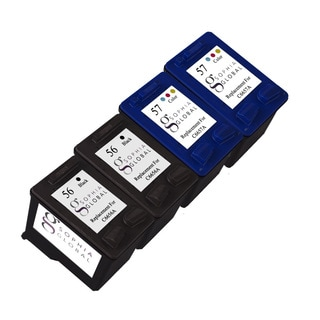 Sophia Global Remanufactured Ink Cartridge Replacement for HP 56 and HP 57 (2 Black, 2 Color)