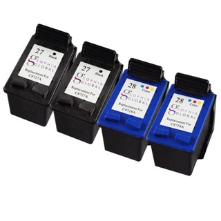 Sophia Global Remanufactured Ink Cartridge Replacement for HP 27 and HP 28 (2 Black, 2 Color)