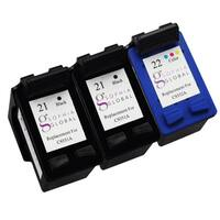 Sophia Global Remanufactured Ink Cartridge Replacement for HP 21 and HP 22 (2 Black, 1 Color)