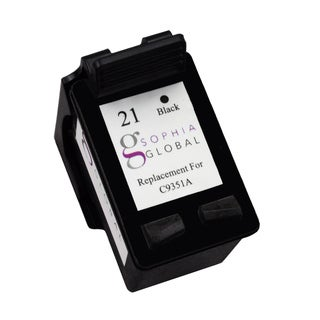 Sophia Global Remanufactured Ink Cartridge Replacement for HP 21 (1 Black)
