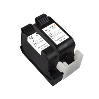 Sophia Global Remanufactured Ink Cartridge Replacement for HP 45 and HP 23 (1 Black, 1 Color)
