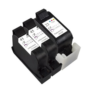 Sophia Global Remanufactured Ink Cartridge Replacement for HP 45 and HP 23 (2 Black, 1 Color)