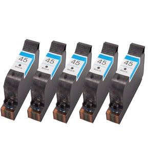 Sophia Global Remanufactured Ink Cartridge Replacement for HP 45 (5 Black)