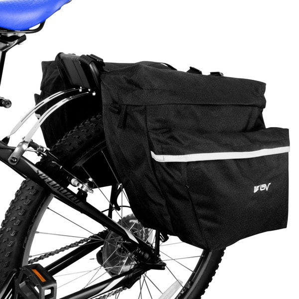 BV Bike Large Angled Pocket Design Panniers For Rear Rack Placement