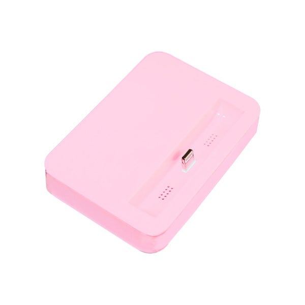 Sophia Global Pink Desktop Charging Dock Cradle Compatible with iPhone 5, 5S, 5C, iPod Touch