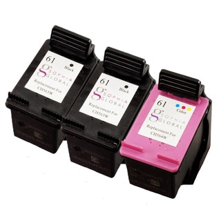 Sophia Global Remanufactured Ink Cartridge Replacement for HP 61 (2 Black, 1 Color)