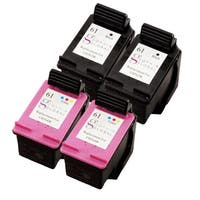 Sophia Global Remanufactured Ink Cartridge Replacement for HP 61 (2 Black, 2 Color)