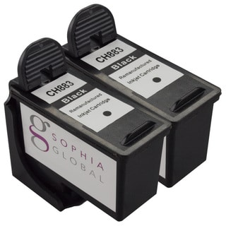 Sophia Global Remanufactured Ink Cartridge Replacement for Dell CH883 Series 7 (2 Black)