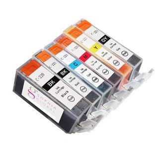 Sophia Global Compatible Ink Cartridge Replacement for Canon PGI-220 and CLI-221 (1 Large B...