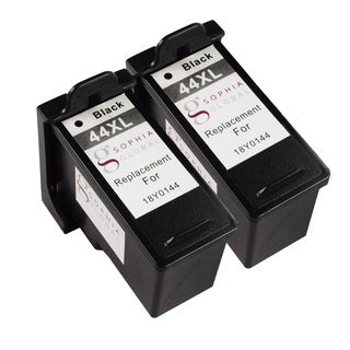 Sophia Global Remanufactured Ink Cartridge Replacement for Lexmark 44XL (2 Black)