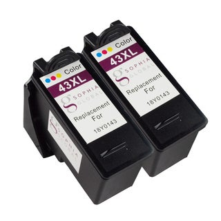 Sophia Global Remanufactured Ink Cartridge Replacement for Lexmark 43XL (2 Color)