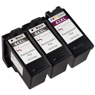 Sophia Global Remanufactured Ink Cartridge Replacement for Lexmark 44XL 43XL (2 Black, 1 Color)