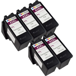 Sophia Global Remanufactured Ink Cartridge Replacement for Lexmark 43XL (5 Color)