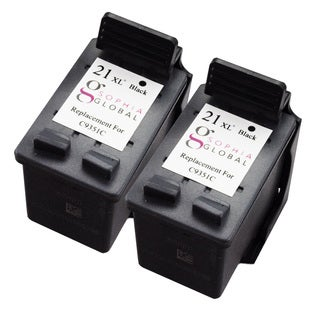 Sophia Global Remanufactured Ink Cartridge Replacement for HP 21XL (2 Black)