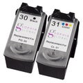 Sophia Global Remanufactured Ink Cartridge Replacement for Canon PG-30 and CL-31 (1 Black, 1 Color)