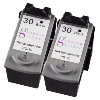 Sophia Global Remanufactured Ink Cartridge Replacement for Canon PG-30 (2 Black)