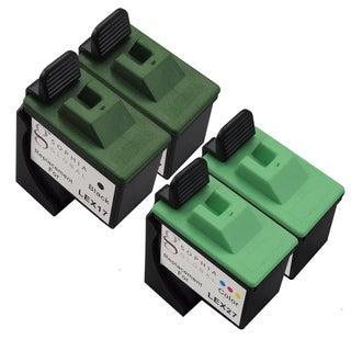 Sophia Global Remanufactured Ink Cartridge Replacement for Lexmark 17 and Lexmark 27 (2 Black and 2 Color)